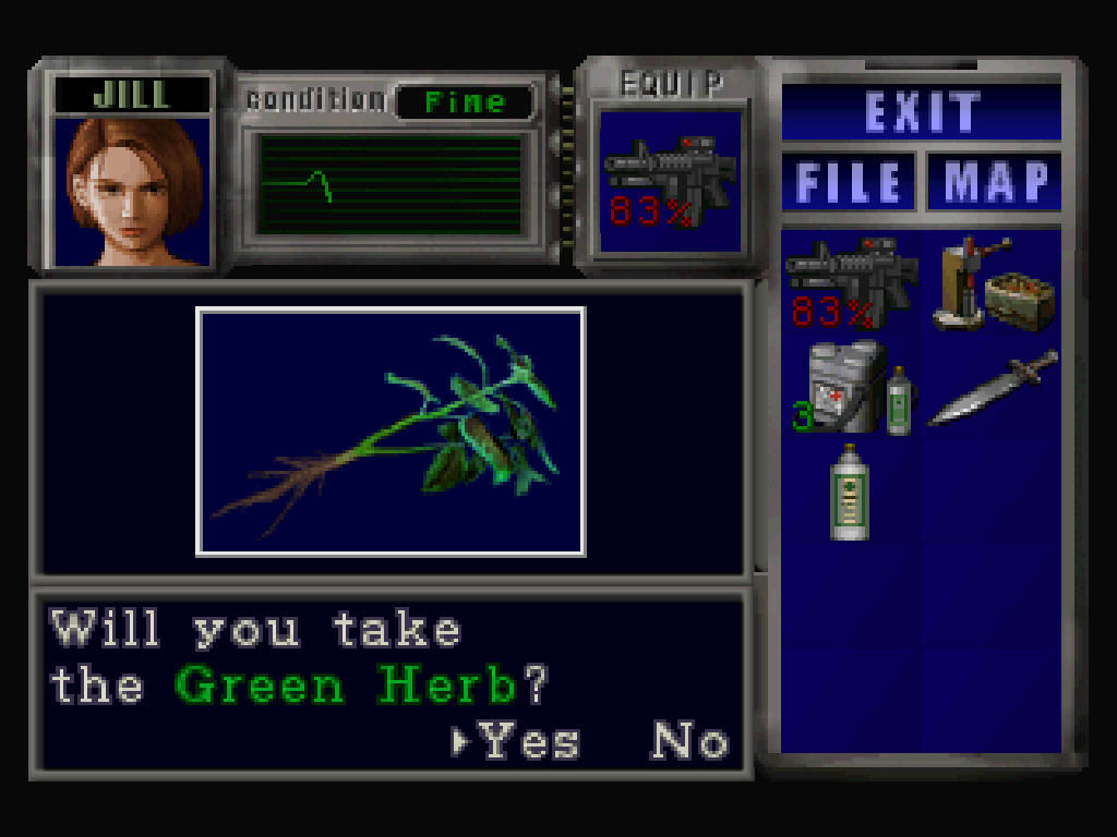 Resident Evil 3: Nemesis Windows Green herb