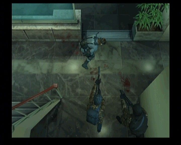 Metal Gear Solid 2: Substance Xbox Heavily armed reinforcements taking out the legendary Snake.