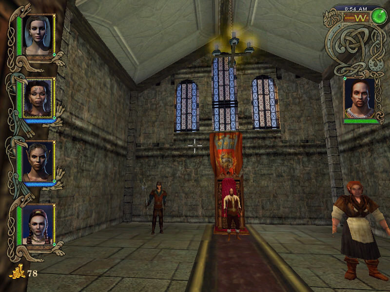 Might and Magic IX Windows Throne room in Guberland