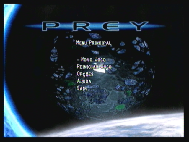 Prey Mobile 3D Zeebo Main menu.