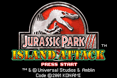 Jurassic Park III: Island Attack Game Boy Advance Time to find your way off the island