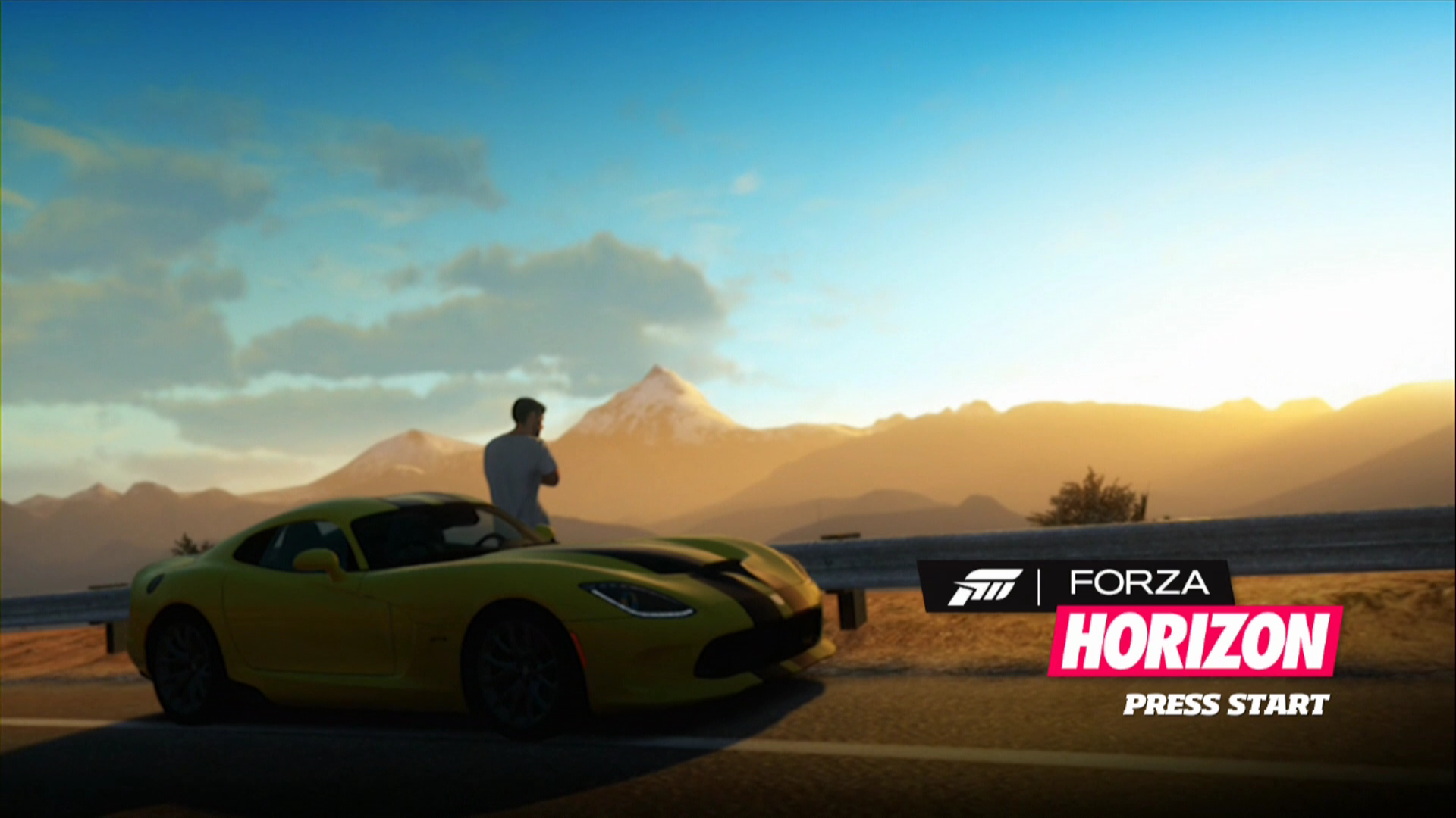 Forza Horizon Xbox 360 Title screen