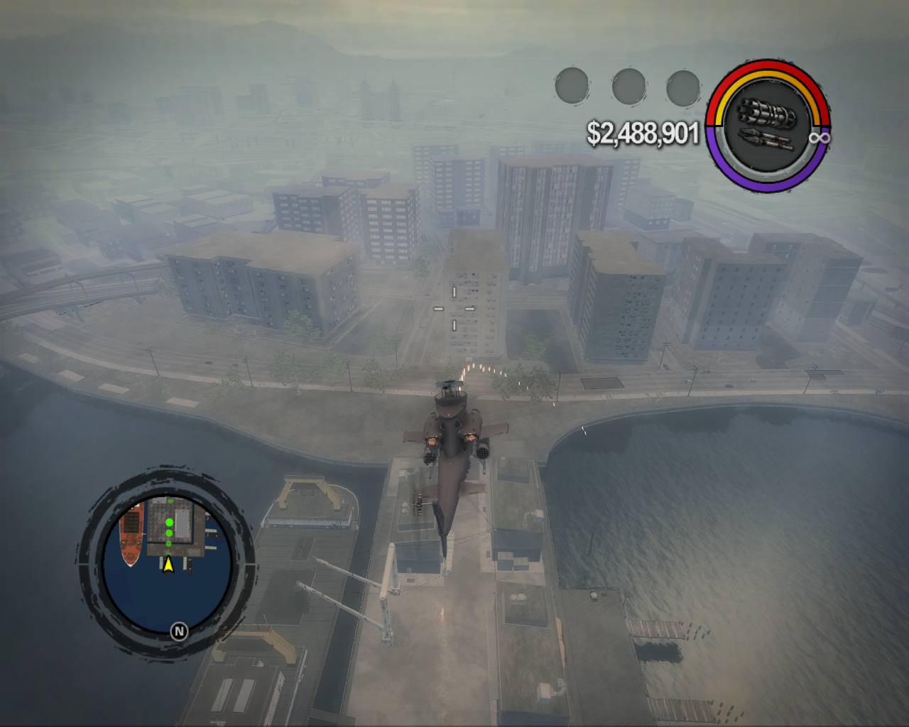Saints Row 2 Windows Everybody's dream - military helicopter