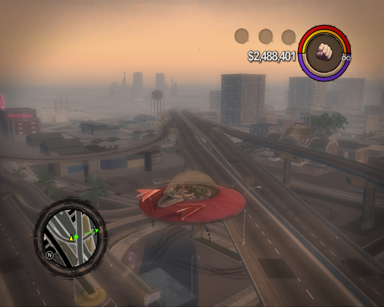 Saints Row 2 Windows Piloting a UFO