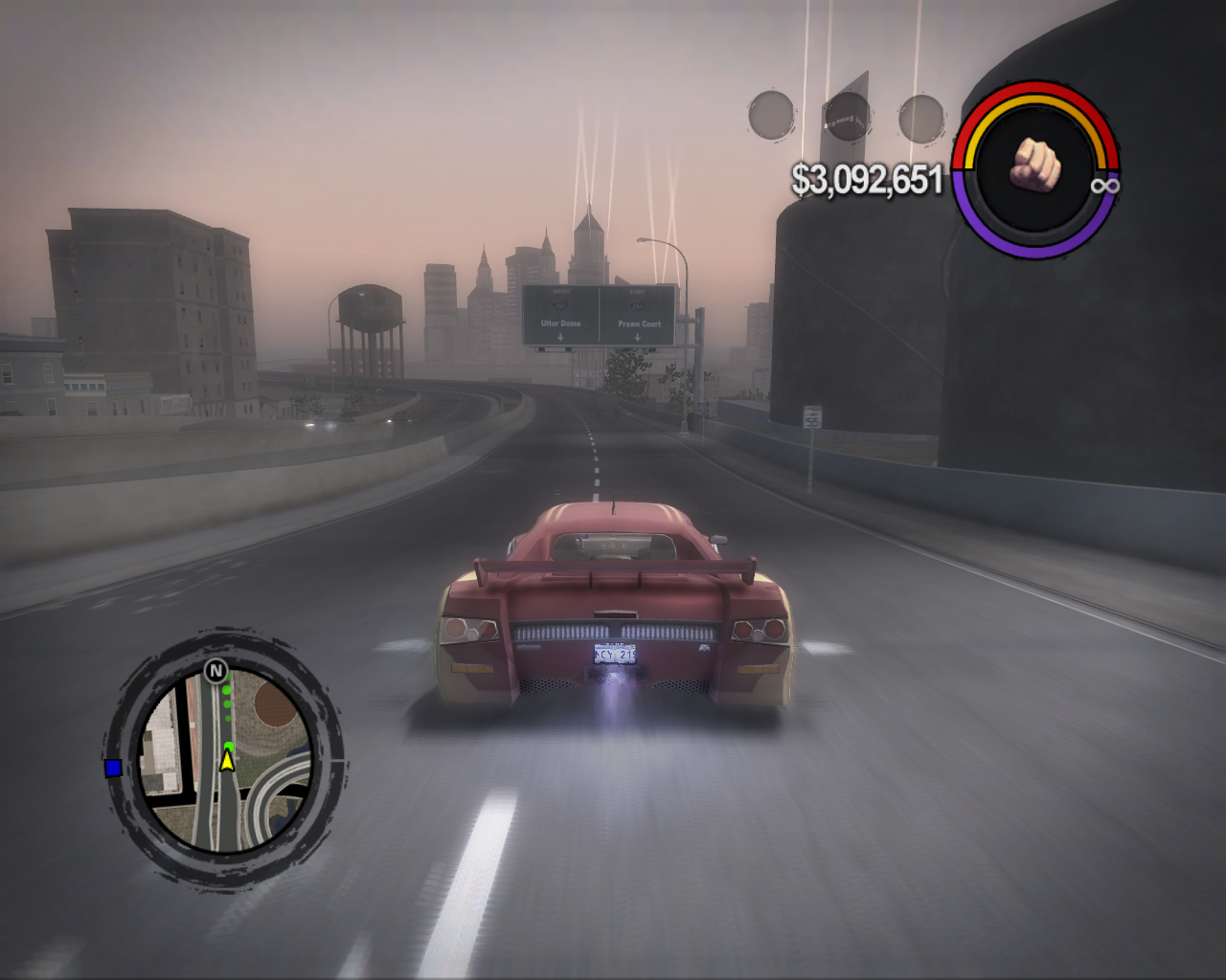 Saints Row 2 Windows Fast cars use nitro (actually most upgraded cars can do so)