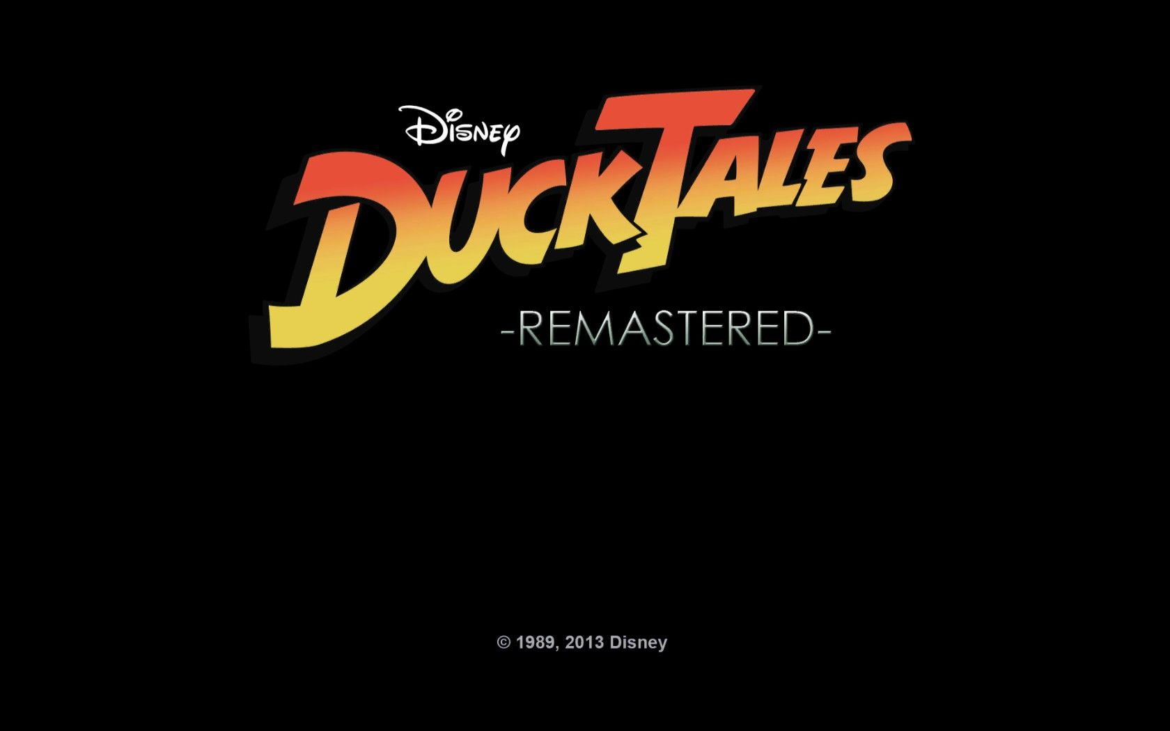DuckTales: Remastered Windows The good old logo.