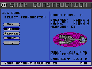 Starflight Genesis Ship construction. Looks like I'm well outfitted to take on some aliens now!