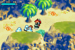 Shining Soul Game Boy Advance Battling some enemies in real-time