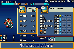 Shining Soul Game Boy Advance Here is your status screen when you're not leveling up