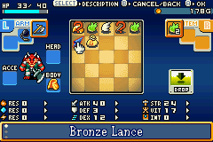 Shining Soul Game Boy Advance Use your inventory screen to set up quick-slot items such as herbs for use in battle, or to equip various items