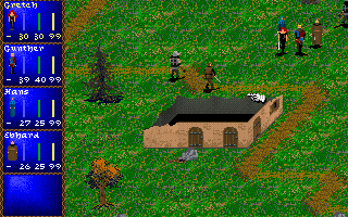Darklands DOS Most battles take place in such random locations. These guards don't stand a chance against us... because of the Basic Difficulty selection, maybe