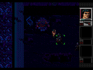 Shadowrun Genesis A ghoul-infested cave - there are several of those in the game, used for a generic Johnson's shadowrun mission type