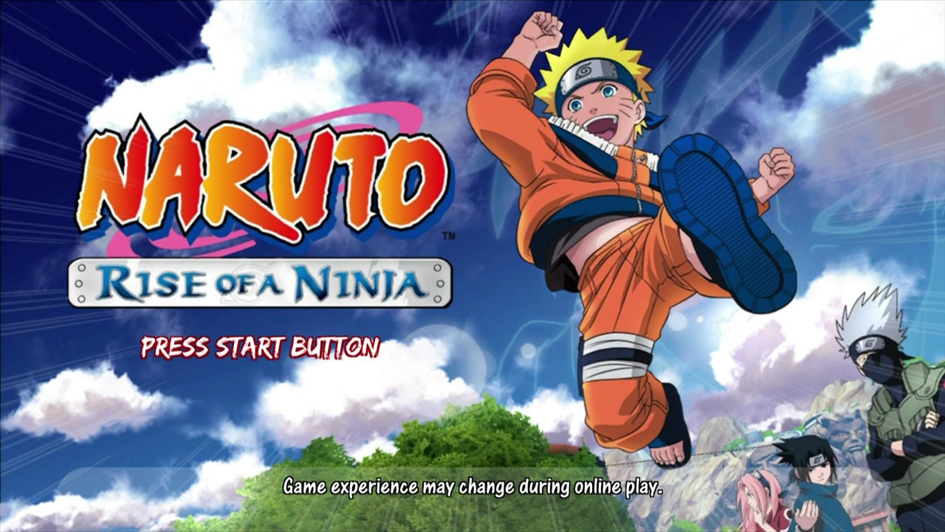 Naruto: Rise of a Ninja Xbox 360 Start screen