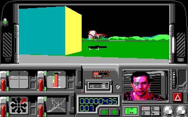 Hoverforce DOS Resolution 101: The drug runners hire gang bosses to protect them. When one of these is shot down a picture is displayed in the video link.