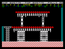 Bruce Lee ZX Spectrum Game over