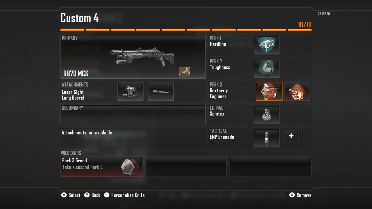 Call of Duty: Black Ops II Wii U Modifying a Loadout with the new Pick-10 system