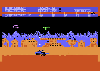 Moon Patrol Atari 8-bit Second stage welcome