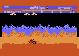 Moon Patrol Atari 8-bit Higher difficulty level