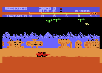 Moon Patrol Atari 8-bit Air strike is comming