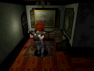 Resident Evil PlayStation The zombie is eating me, AAAAHHHH!!!!!