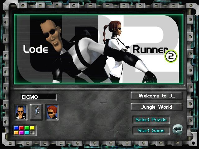 Lode Runner 2 Windows Choose your character (Wait for some time for a brief summary of Lode Runner's game elements)