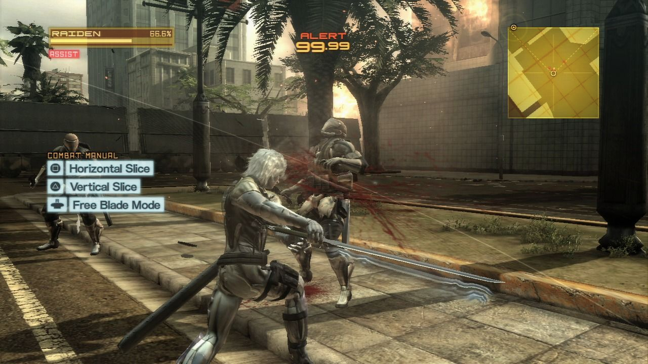 Metal Gear Rising  Revengeance PlayStation 3 Manually slicing works    Metal Gear Rising Revengeance Cover Ps3