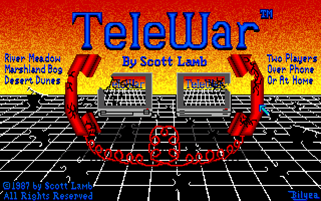 TeleWar Amiga Title screen