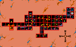 Fantasy World Dizzy DOS This map can be found near the end of the game, in the cloud castle, and shows locations of all coins.