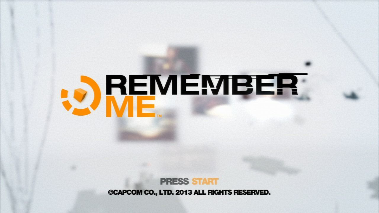 Remember Me PlayStation 3 Main title.