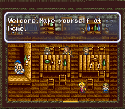 Harvest Moon SNES After a hard day's work at the ranch, spend some time after hours at the local tavern for info.