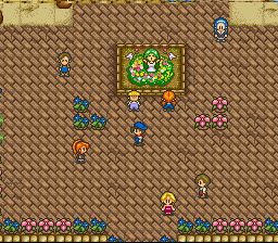 Harvest Moon SNES Every 23rd of Spring, the town celebrates the Flower Festival.