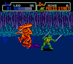 Teenage Mutant Ninja Turtles: The Hyperstone Heist Genesis Alien here?