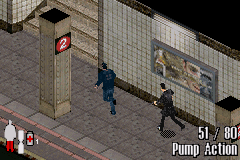 Max Payne Game Boy Advance Max must escort this guy to door