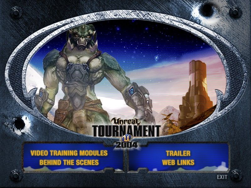 Unreal Tournament 2004 (DVD Special Edition) Windows The main menu of the Bonus DVD