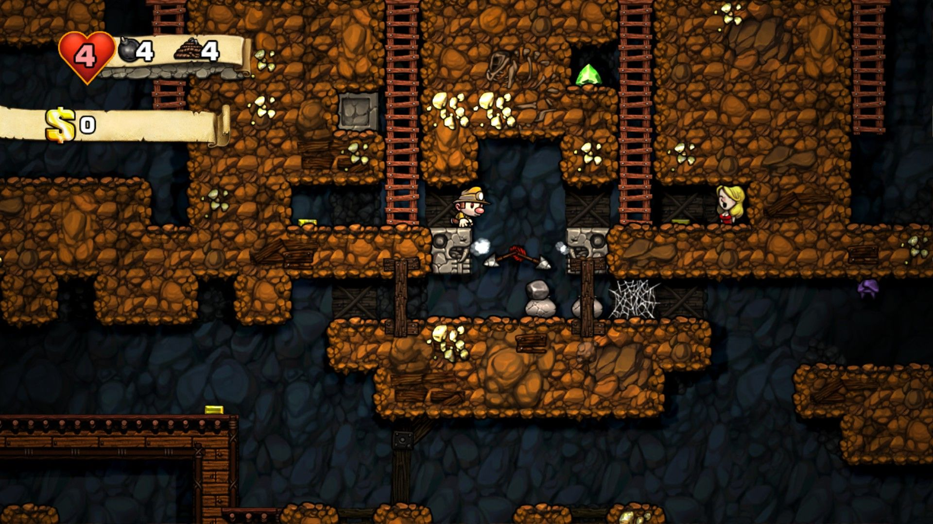 Spelunky has purposely limited randomly generated levels which work in its advantage