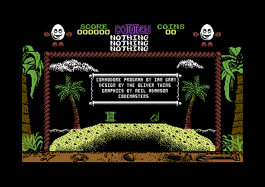 Treasure Island Dizzy Commodore 64 Title screen
