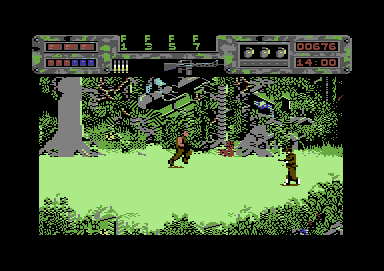 Predator Commodore 64 Enemy soldiers