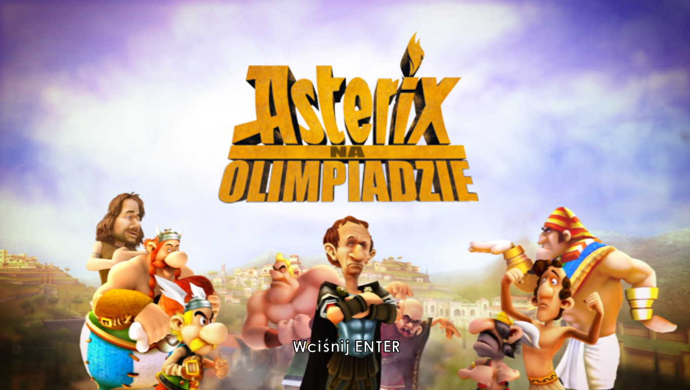 Asterix at the Olympic Games Windows Title screen
