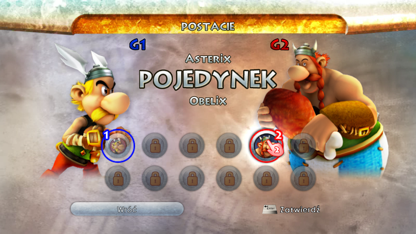 Asterix at the Olympic Games Windows Duel - selecting characters