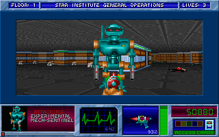 Blake Stone: Aliens of Gold DOS Experimental mech sentinel