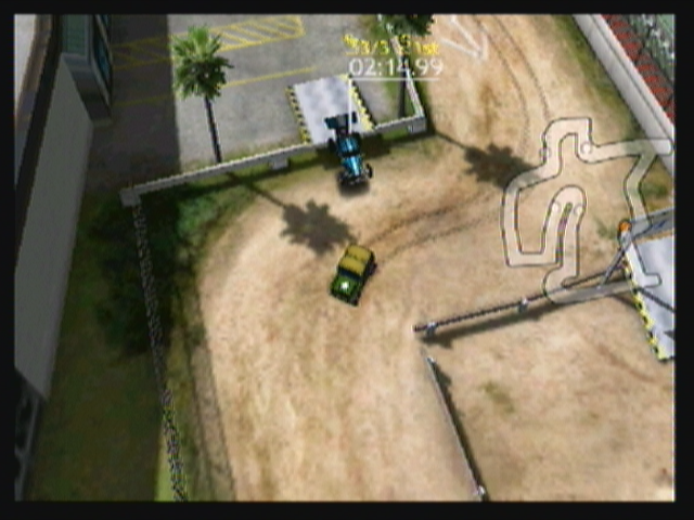 Reckless Racing Zeebo Taking a shortcut in this city track, part of the bonus track pack.