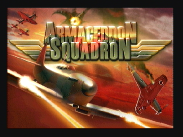 Armageddon Squadron Zeebo Title screen.
