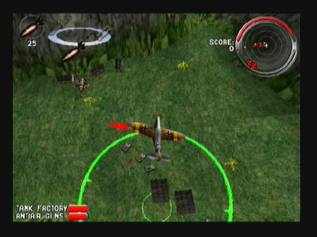 Armageddon Squadron Zeebo While having the bomb selected as weapon, the camera changes to a top-down view.