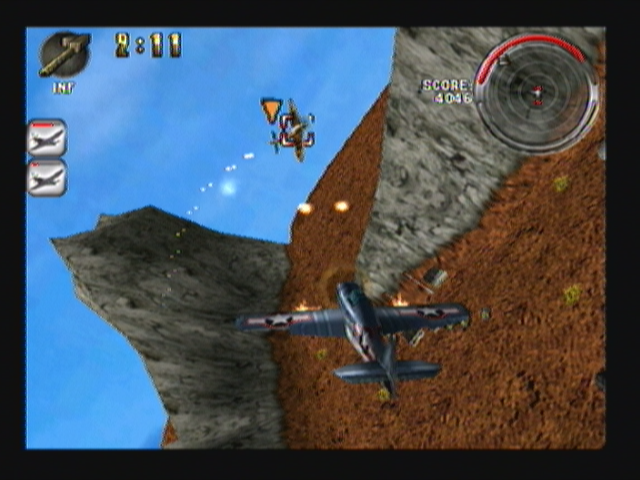Armageddon Squadron Zeebo Dogfighting in Arcade mode.