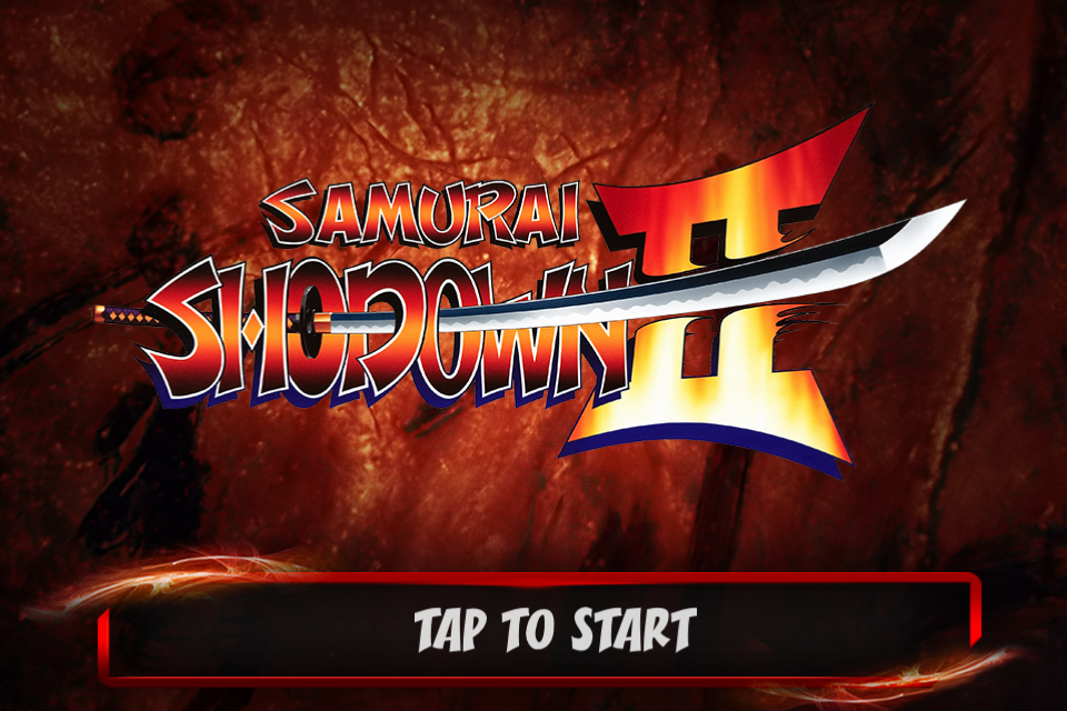Samurai Shodown II iPhone Title screen.