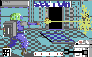 Sector 90 Commodore 64 Title Screen.