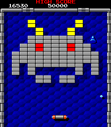Arkanoid Arcade Space Invaders-themed level