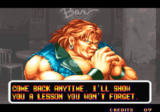 Art of Fighting Arcade Fight lost - Jack was stronger