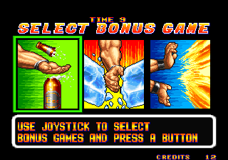 Art of Fighting Arcade Bonus game