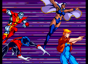 X-Men Arcade Collosus, Storm, Dazzler & Nightcrawler